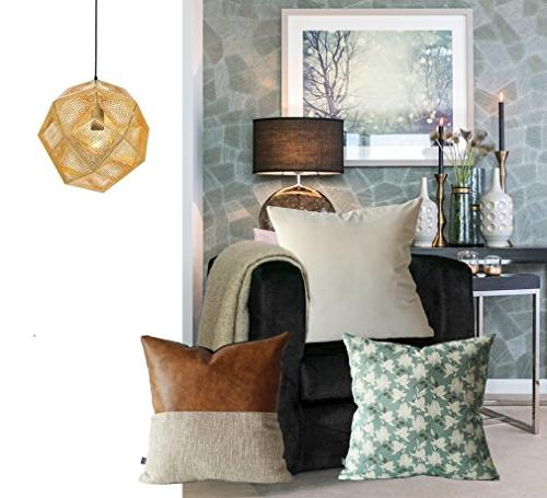 Kdays Designer Cover Decorative Faux Leather Pillow Cover Cushion Cover 18x18 Inches