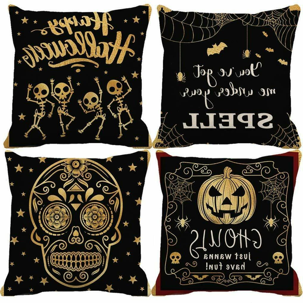 Halloween Pillow Throw Covers Home Decorations Decorative Pi