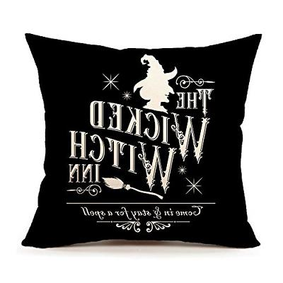 halloween wicked witch inn throw pillow cover