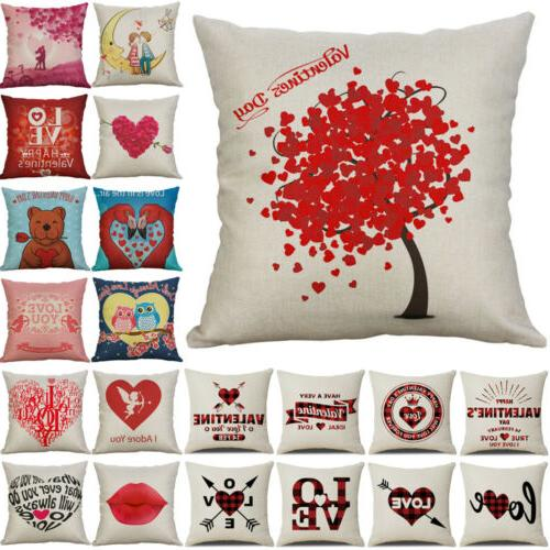 Happy Valentine's Pillow Love Cover Romantic Gift