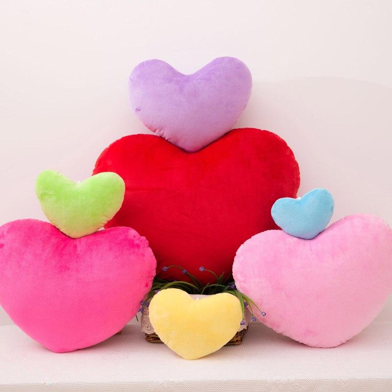 Heart <font><b>Shape</b></font> <font><b>Throw</b></font> Cushion Stuffed Plush Toy Gift <font><b>Throw</b></font> Decorative Cushion Wedding Decoration