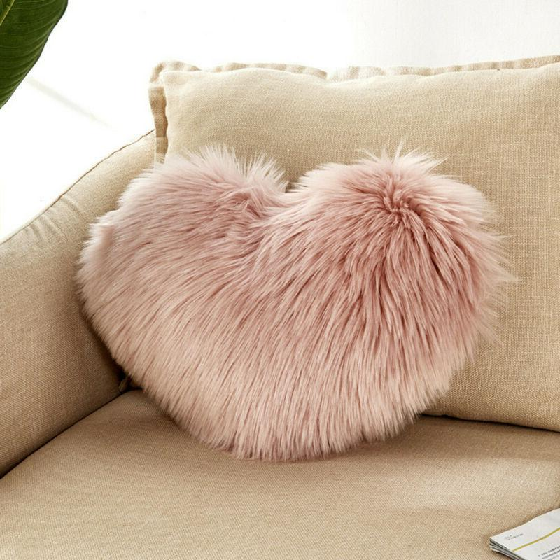 Heart Shaped Throw Pillow Cushion Pillows Home Decoration Lover