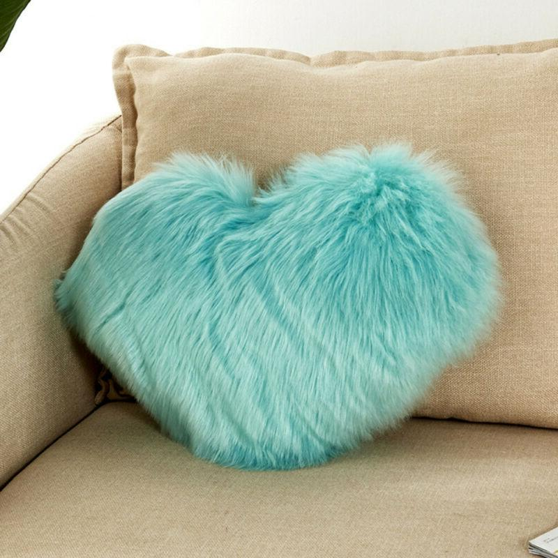 Solid Heart Shaped Pillow Cushion Plush Gift