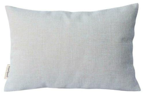 TangDepot Heavy Lined Linen Cushion Cover, Throw Pillow Rect