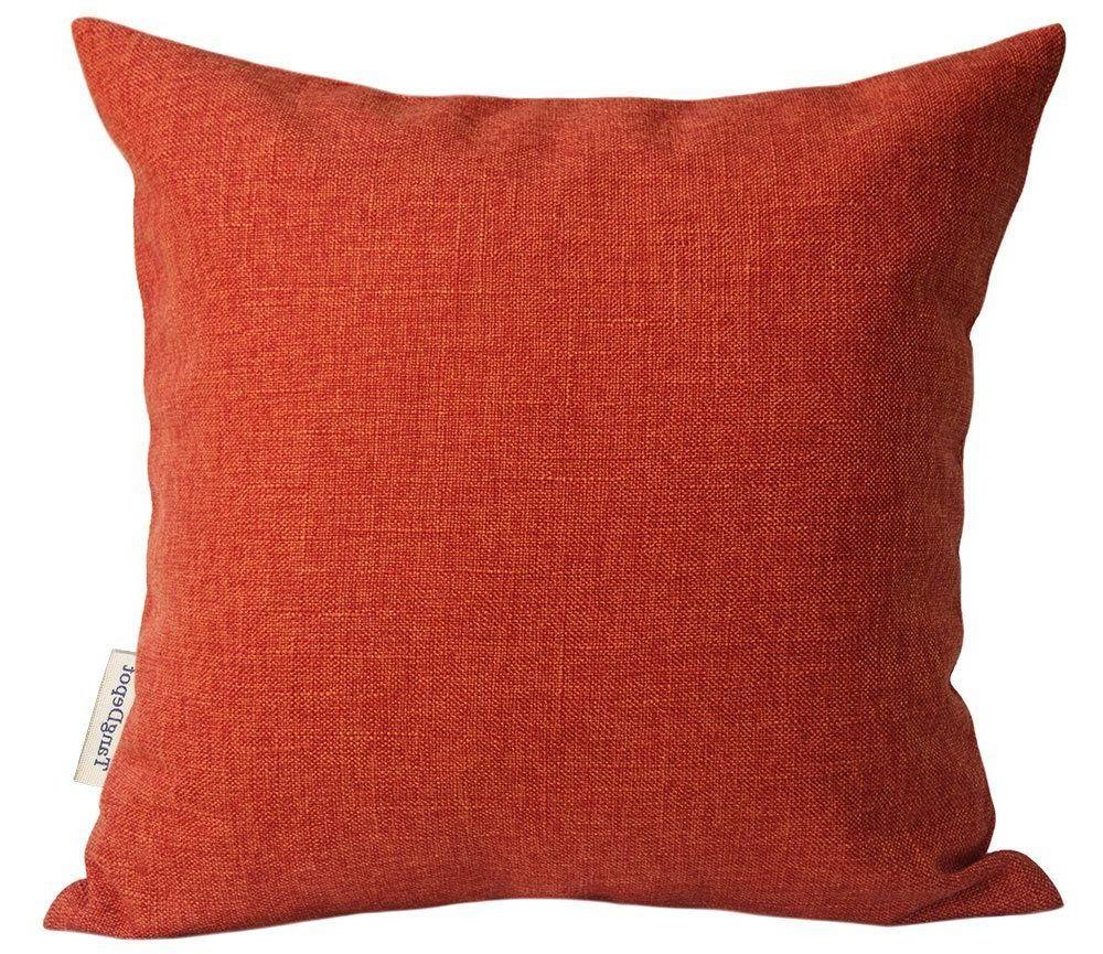 heavy lined linen cushion cover throw pillow