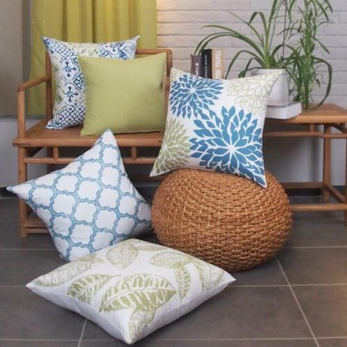 Home Decor Cotton Pillow Case Throw Inserts New