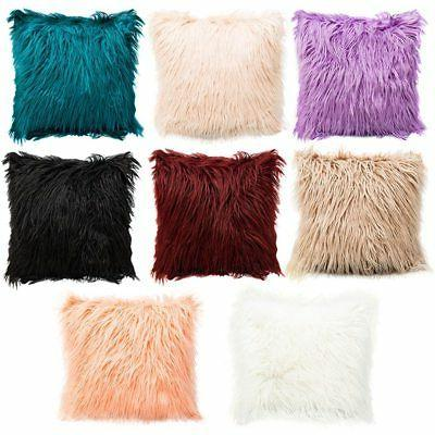 home decor soft square plush faux fur