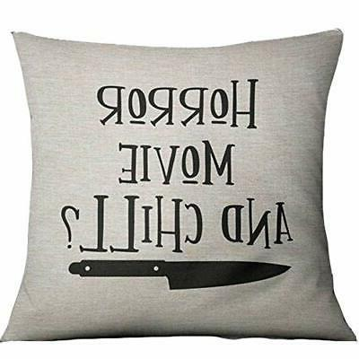 horror movie and chill pillows covers 18x18inch
