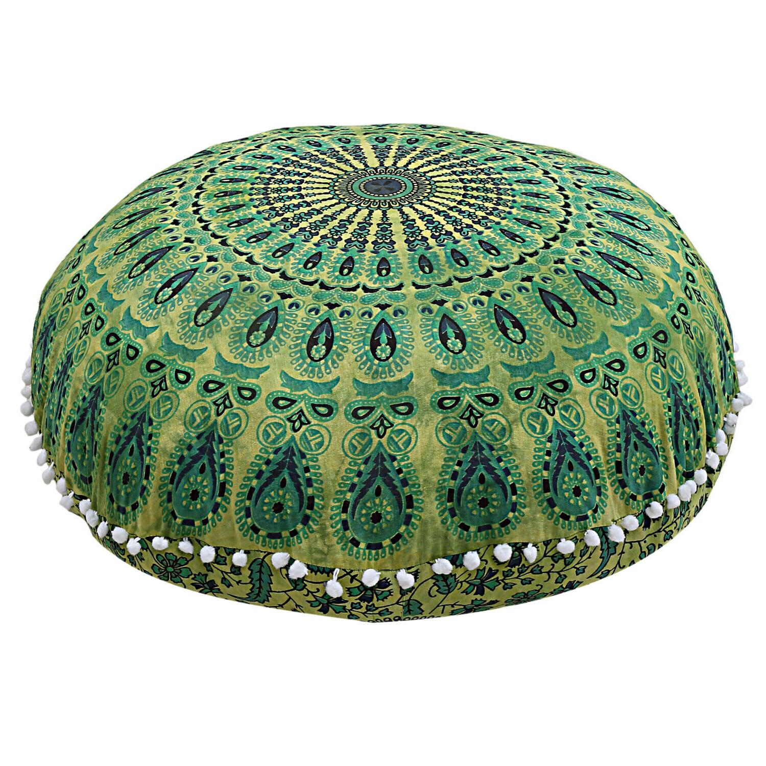Indian Floor Pillow Throw Pouf