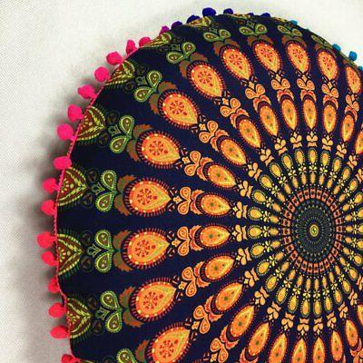 Mandala Indian Floor Pillow Round Boho Cushion