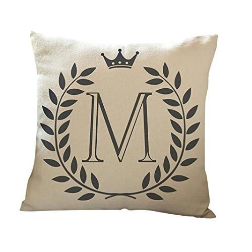 kimloog linen throw pillow case