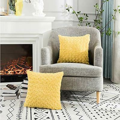LANANAS Plush Faux Fur Throw Pillow Covers Couch Mong