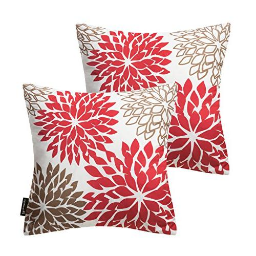living red brown series throw