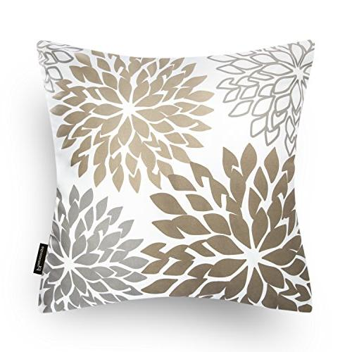 Phantoscope Set 2 New Dahlia Coffee Throw Pillow Case Cushion Cover x 45cm