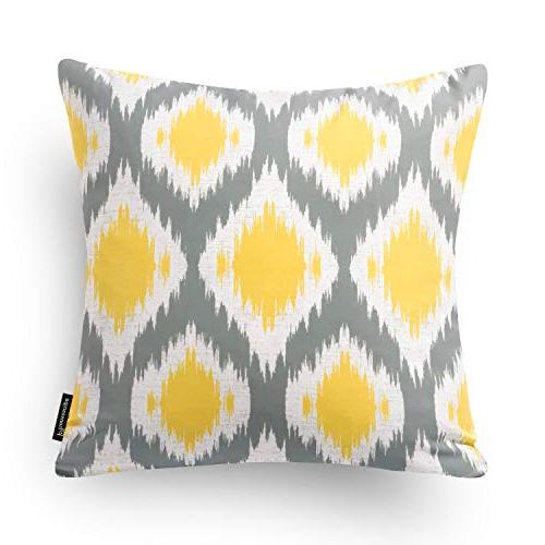 """Phantoscope Set of New Living Yellow and Throw Pillow Case Cover 18"""" x 45cm"""