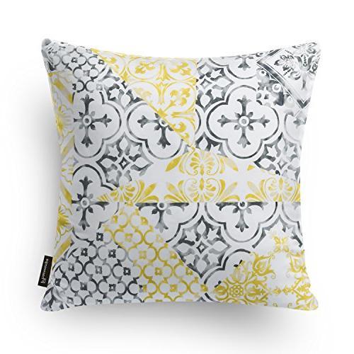 """Phantoscope of New and Grey Pillow Case Cover 18"""" x 18"""" 45cm x"""