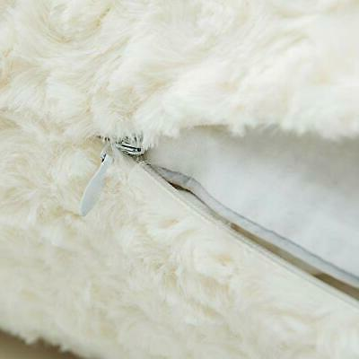 LANANAS Luxury Soft Plush Faux Fur Pillow Covers for Decorative