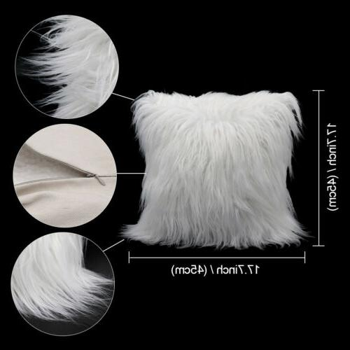 Luxury Series Pillow Covers Fur Cushion Case for Bed Sofa
