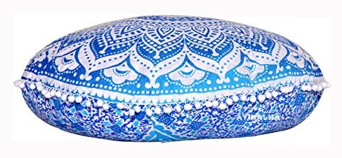 """ANJANIYA 32"""" Mandala Ombre Yoga Pillow Home Bed Cover Couch Large Zipped Throw Ottoman Boho Indian"""