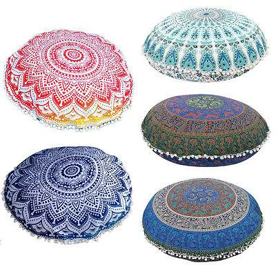 mandala floor pillows round bohemian meditation throw