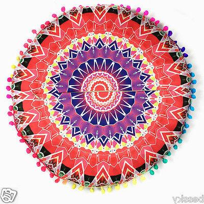 New Print Round Bohemian Pillow Seat Cushions Cover