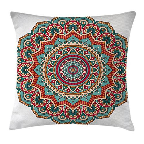 mandala throw pillow cushion cover
