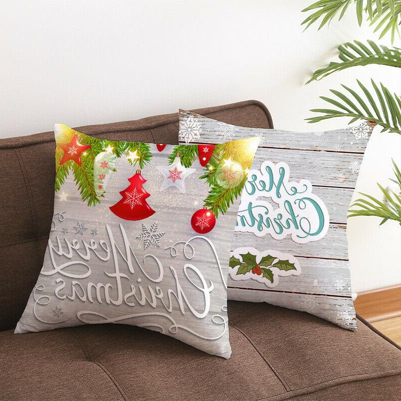 Merry Christmas case throw sofa Decor