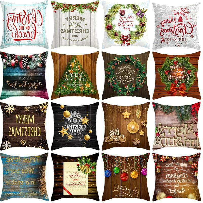 merry christmas pillows case throw cushion cover