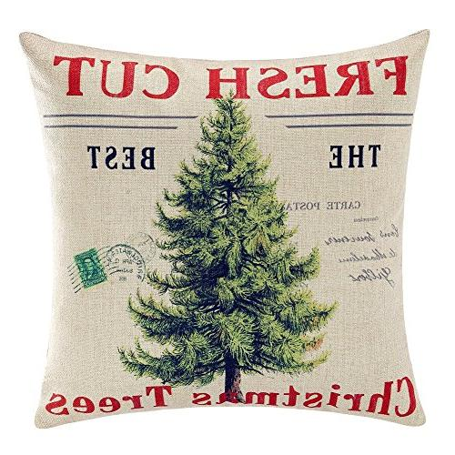 merry christmas throw pillow cover