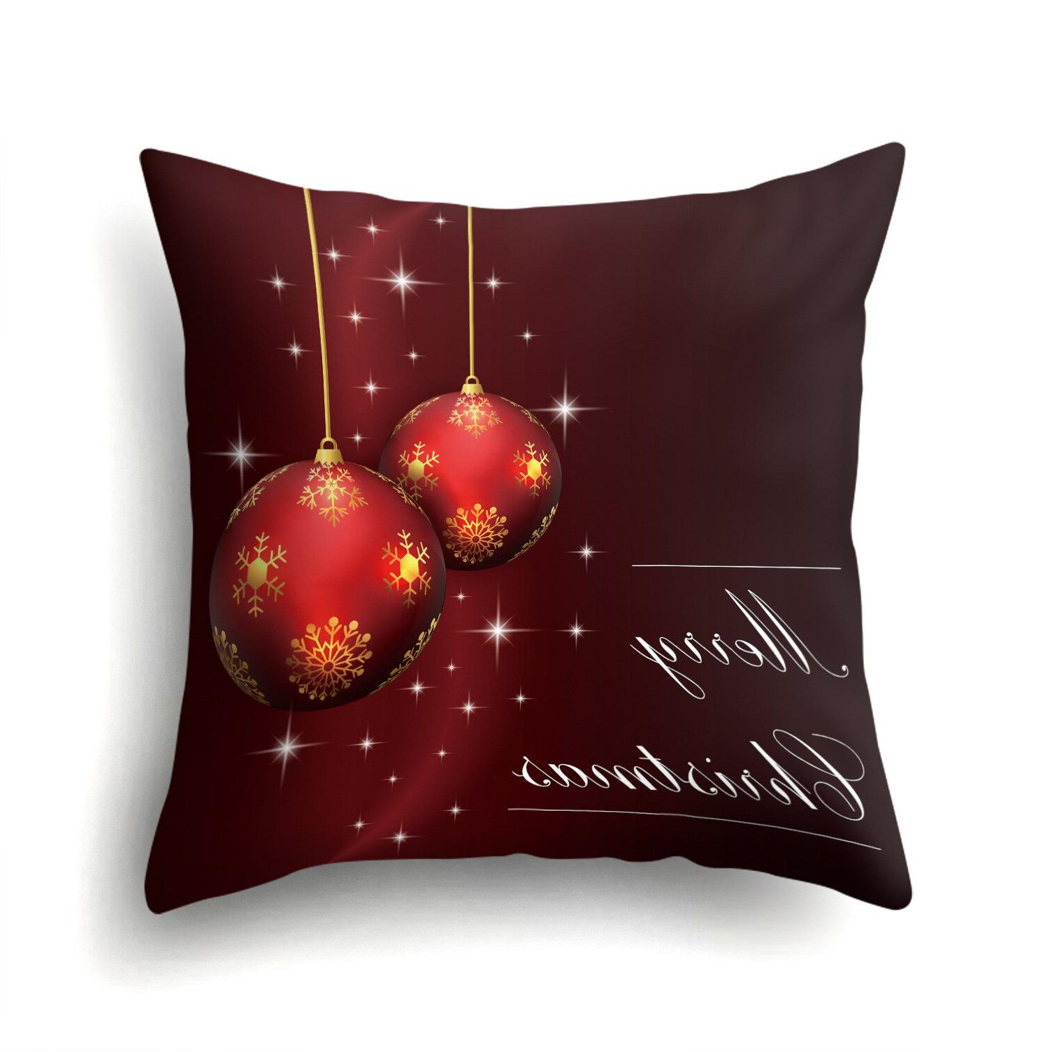 Merry Christmas Trees <font><b>Throw</b></font> <font><b>Pillow</b></font> Case Square For Sofa Decoration Almofadas