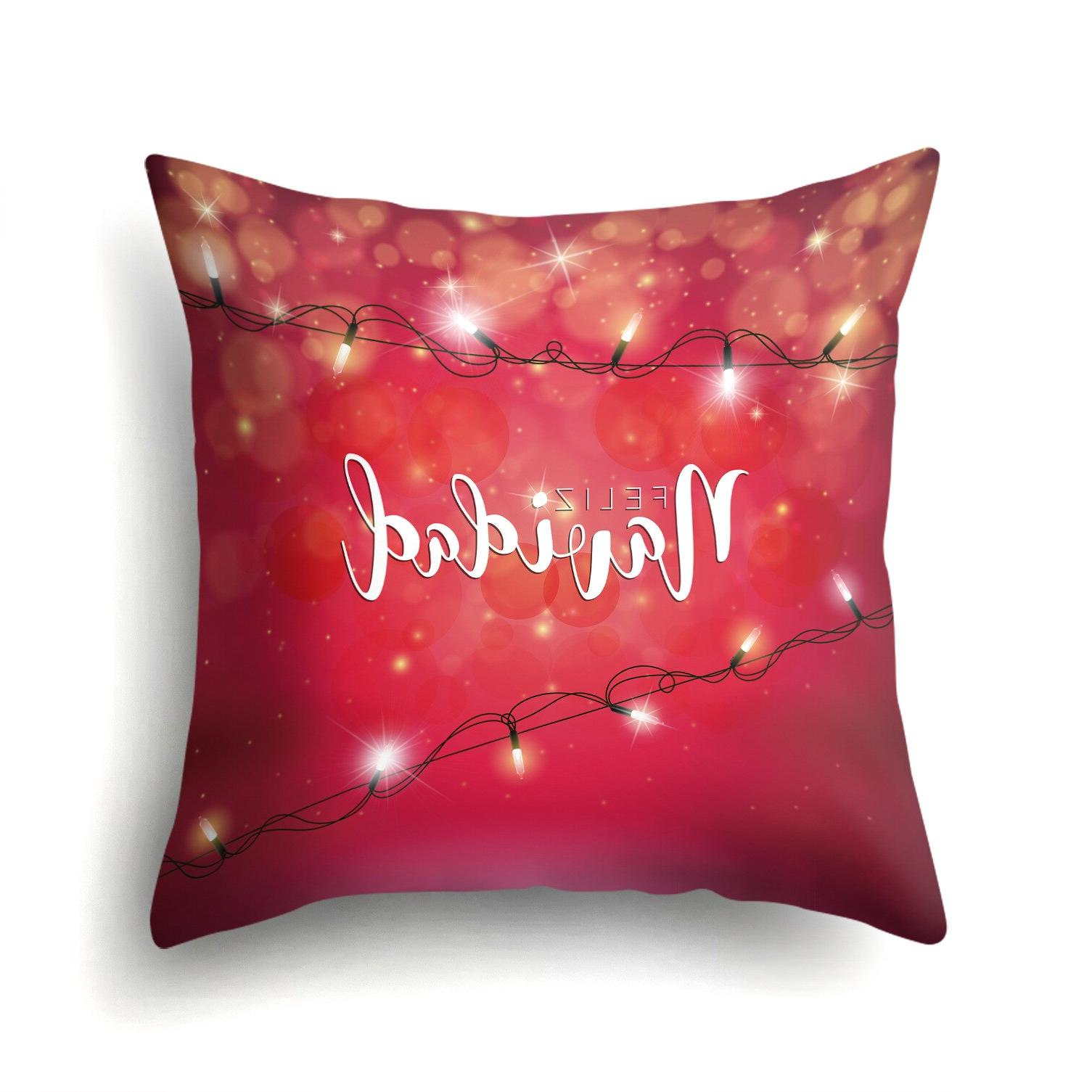 Merry <font><b>Throw</b></font> <font><b>Pillow</b></font> Case <font><b>Shape</b></font> Polyester Cushion For Almofadas