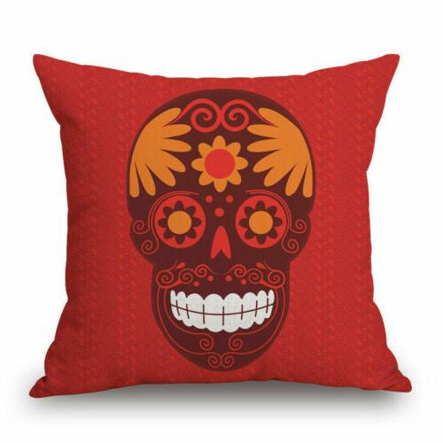 Mexican Indiana Skull Case Cushion Sham