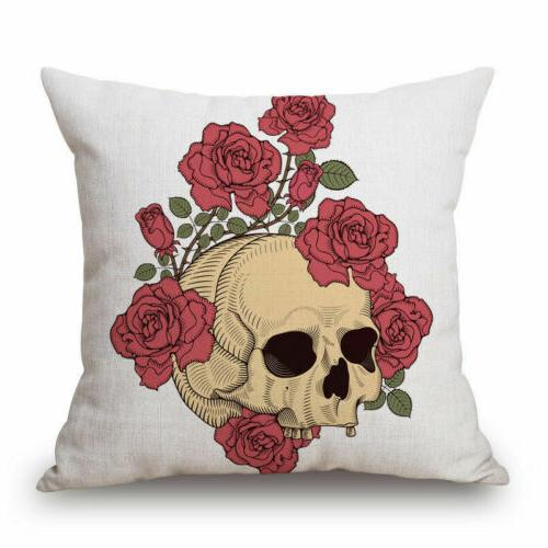 Mexican Indiana Decorative Skull Throw Pillow Case