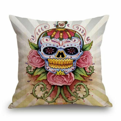 Mexican Skull Art Throw Case
