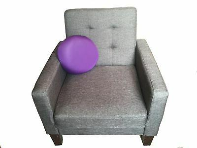 Microbead Circle Pillow Removable Accent Sofa Couch