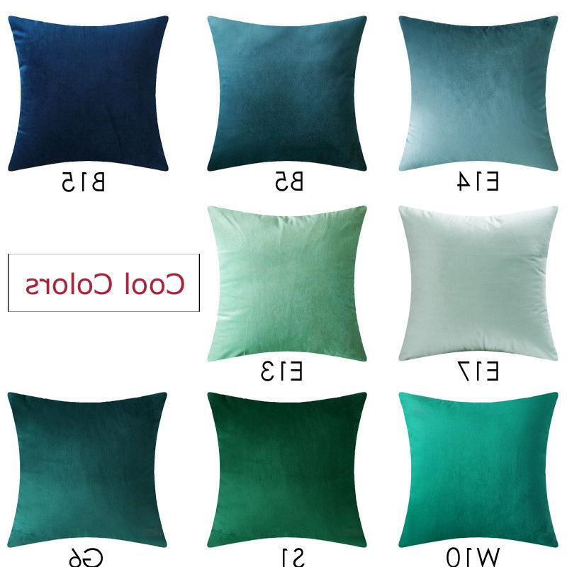 Microfiber Covers Cushion Solid