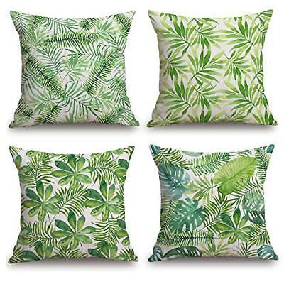 modern tropical leaves series cotton
