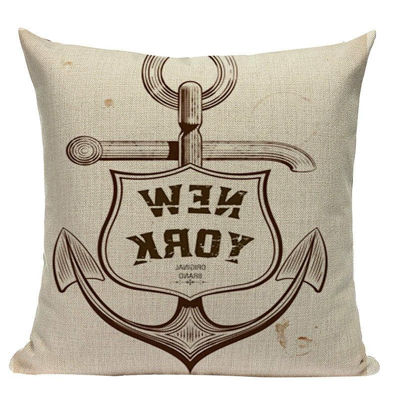 nautical throw pillows Velvet Decorative Cover