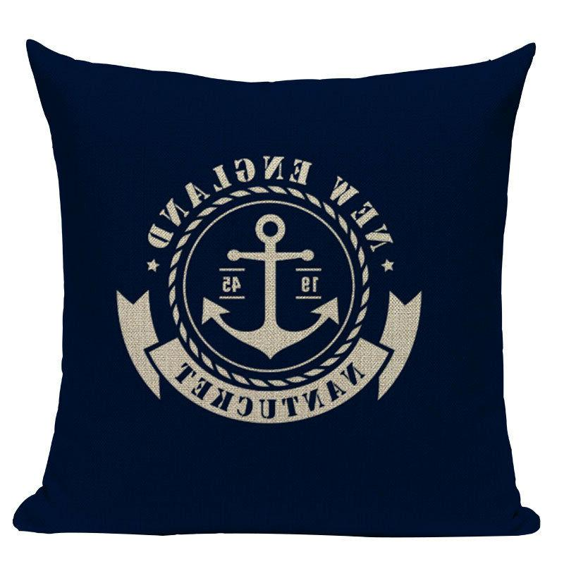 nautical pillows Velvet Anchor Style Case Decorative Pillow Cover