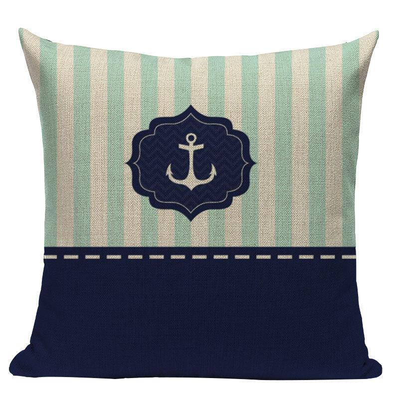 nautical throw pillows Velvet Anchor Sea Style Case Decorative Pillow