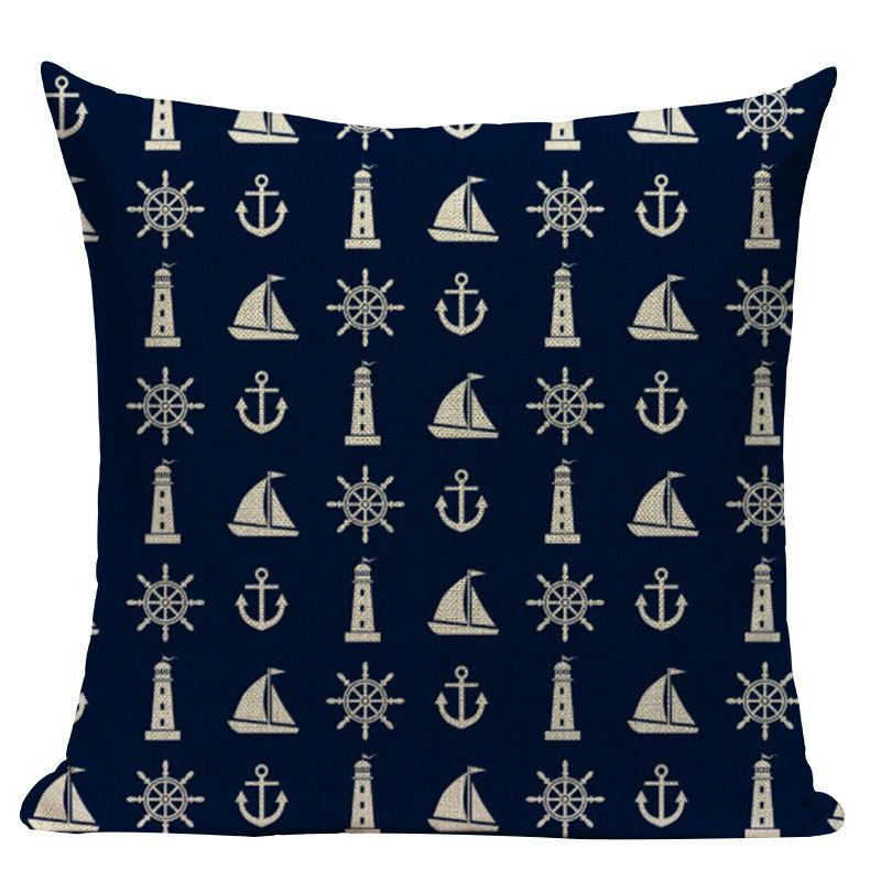 nautical throw Velvet Anchor Sea Style Decorative