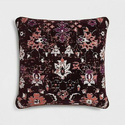new 3 pieces woven floral square throw
