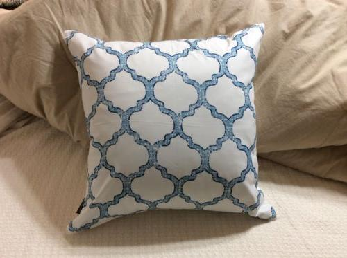 new living blue decorative throw pillow case