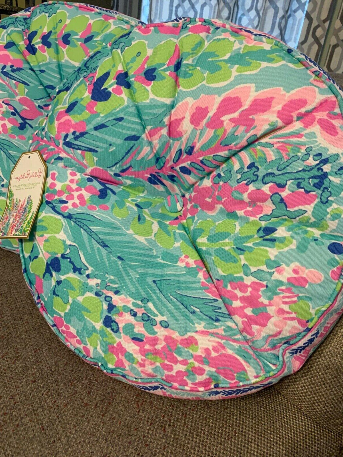 NWT Catch The Wave Toss Throw Pillows Pink Green