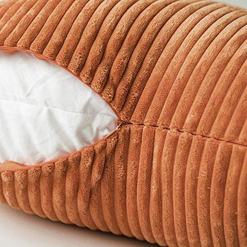 MIULEE Corduroy Soft Soild Square Covers for Bedroom 18 45 cm