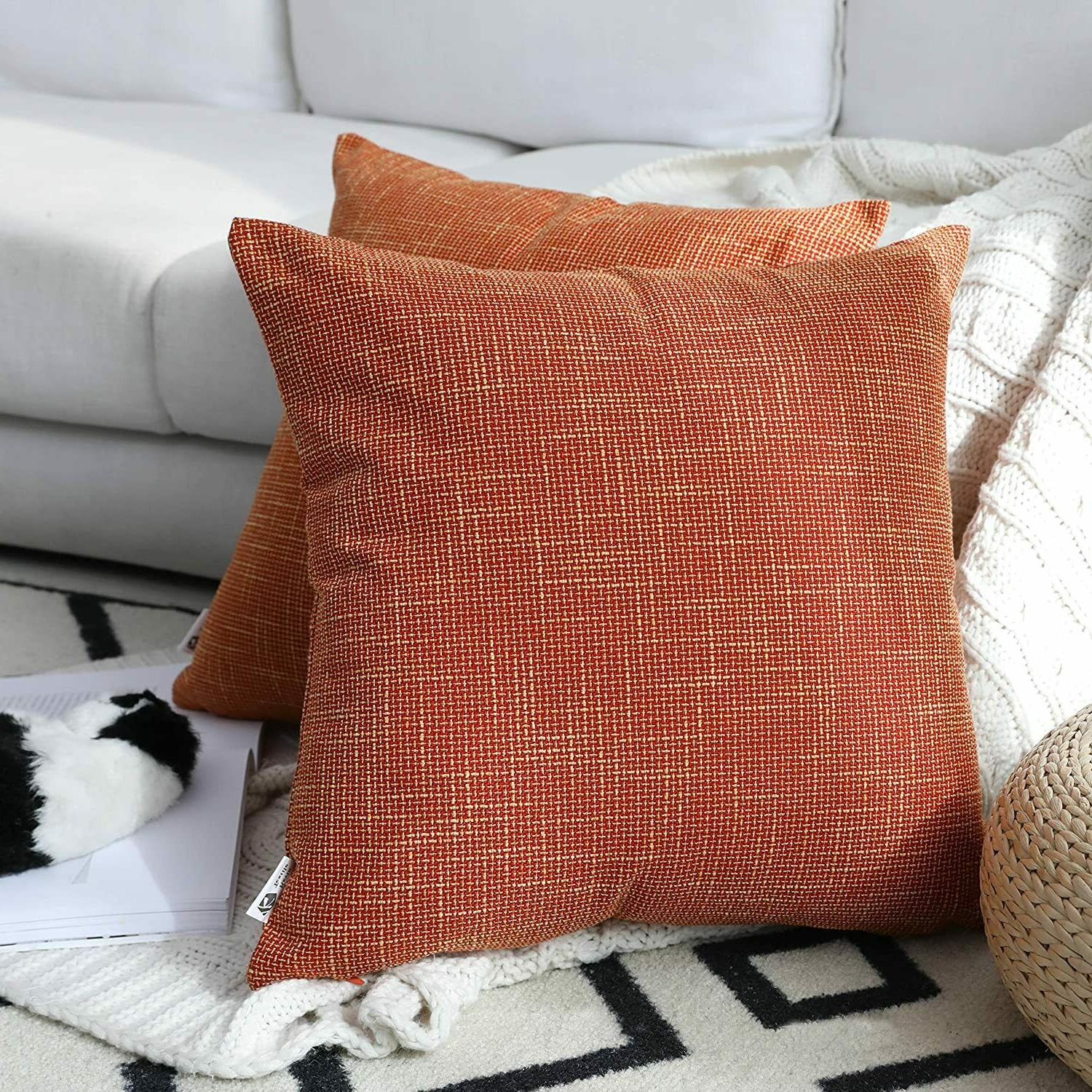 Pair Covers By Kevin x 55cm 55cm, Orange, New