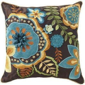 pier one embroidered applique pillow