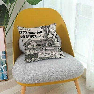 Pillow Case Car Sofa Bed Throw Cover Home Decoration