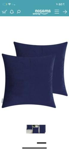 "calitime pillow covers Soft Velvety Faux Cashmere 20x20"" 2"