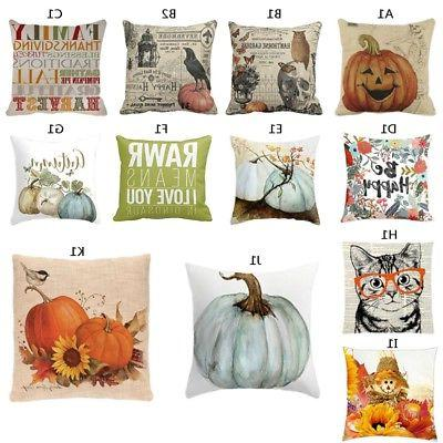 pillows cover fall decor halloween pillow case